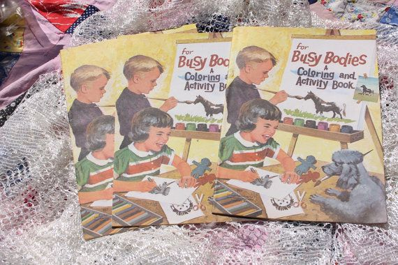 Three Vintage Children's Coloring Books by jewelryonmymind on Etsy