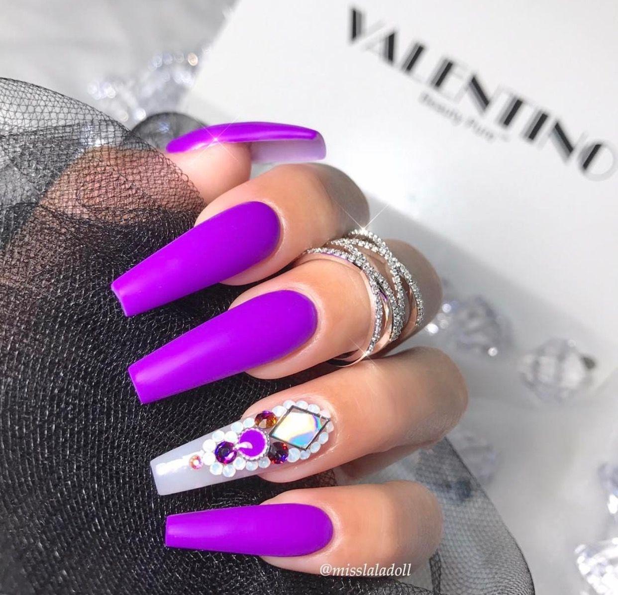 Pin by Dollhouse on N A I L S | Pinterest | Pinterest hair, Purple ...
