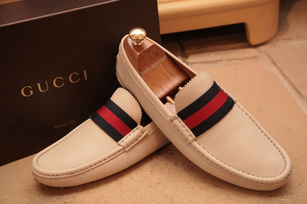 a792e058d26 Gucci Men s Cream Brushed Leather Loafers Driving Shoes UK 9  fashion   clothing  shoes  accessories  mensshoes  dressshoes (ebay link)