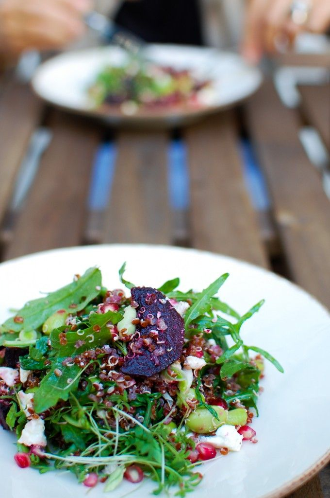salada de quinoa, beterraba e feta | Quinoa, beets and feta salad