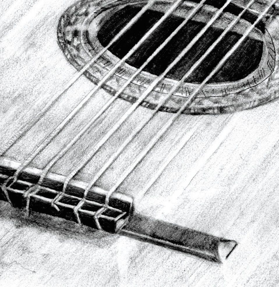 Close Up View Pencil Drawing Guitar Drawing Guitar Tattoo Design Drawing Sketches