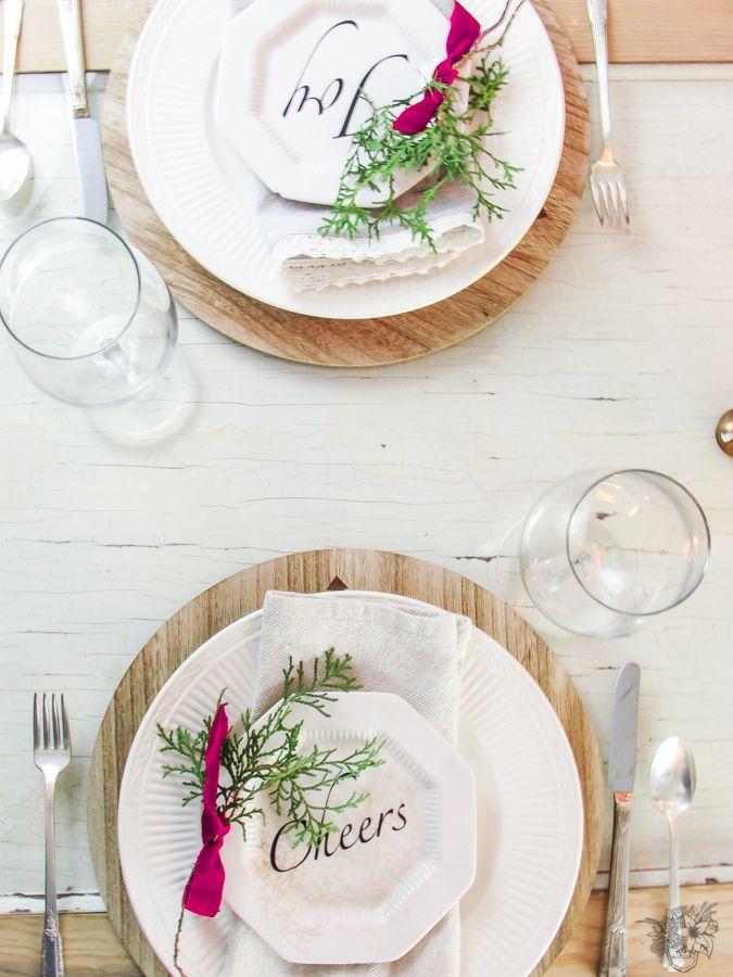 DIY Christmas Wish Plates & DIY Christmas Wish Plates - Silhouette Challenge | DIY Christmas ...