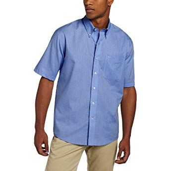 8cdfc94cc059d2 Cutter & Buck Men's Big-Tall Short Sleeve Epic Easy Care Nailshead Shirt,  French Blue, 3X-Large/Tall
