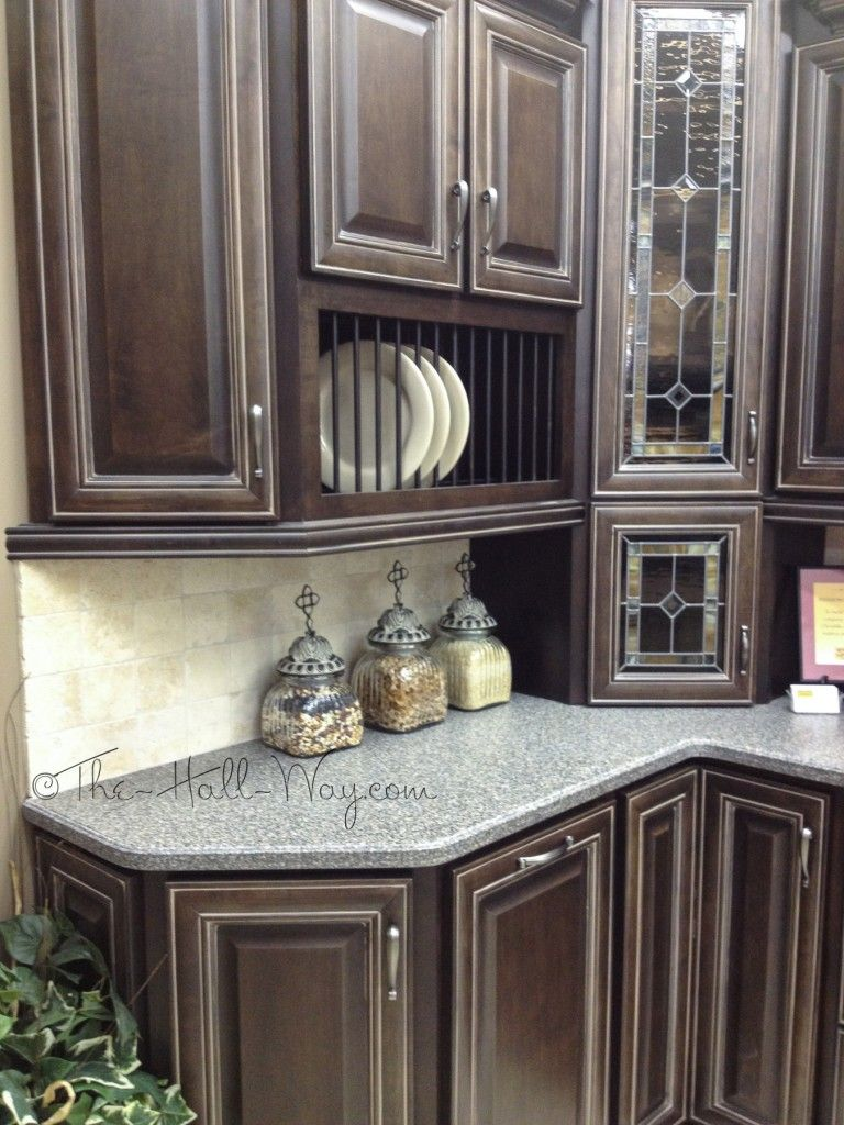 Espresso Stained Maple Cabinets with Khaki Glaze | KITCHEN IDEAS ...