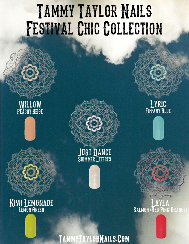Tammy Taylor Festival Chic Nail Collection. Just ordered this collection!