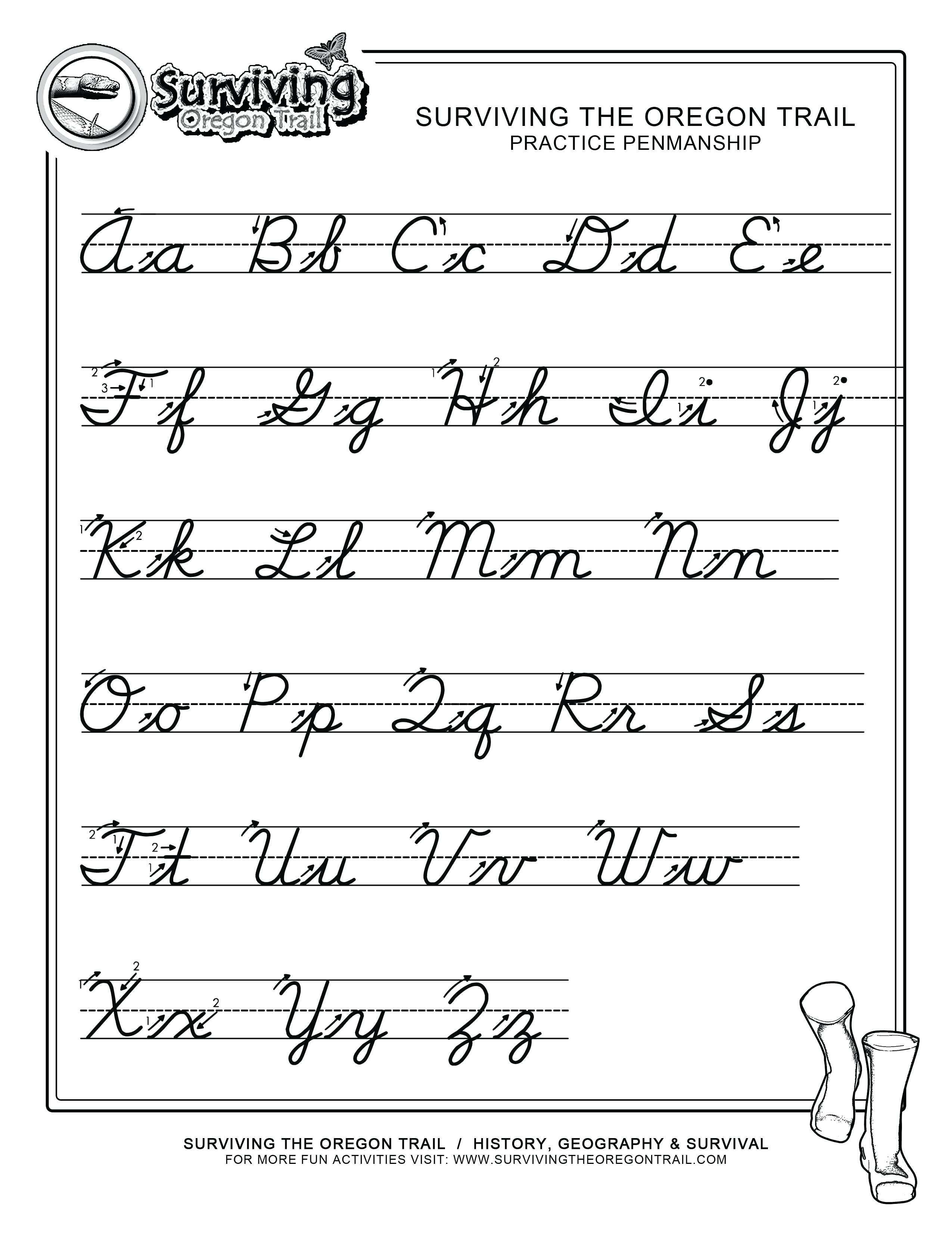 Cursive Letters A Z To You Cursive Letters A Z