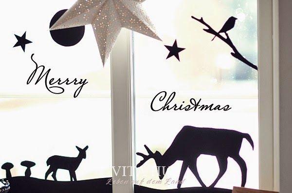 weihnachtsfenster adventsfenster selber machen gestalten weinachten advent weihnachten. Black Bedroom Furniture Sets. Home Design Ideas