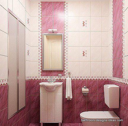 pink bathroom,pink tile bathroom,small pink bathroom,pretty in ...