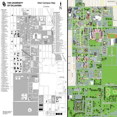 University Of Oklahoma Map The University of Oklahoma | University of oklahoma, The