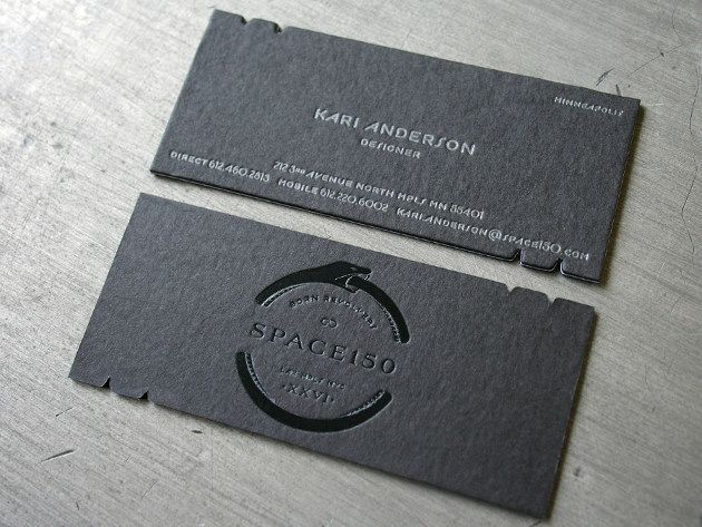 Unique business cards space 150 businesscards design httpwww space 150 die cut business cards are printed on a custom pasted triple layer stock with a total weight of the logo side of the business card uses black colourmoves