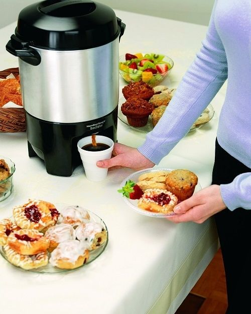 Coffee Maker Urn Large Capacity 40 Cup Party Crowd Automatic Machine Stainless Hamiltonbeach With Images Coffee Urn Coffee Dispenser Coffee