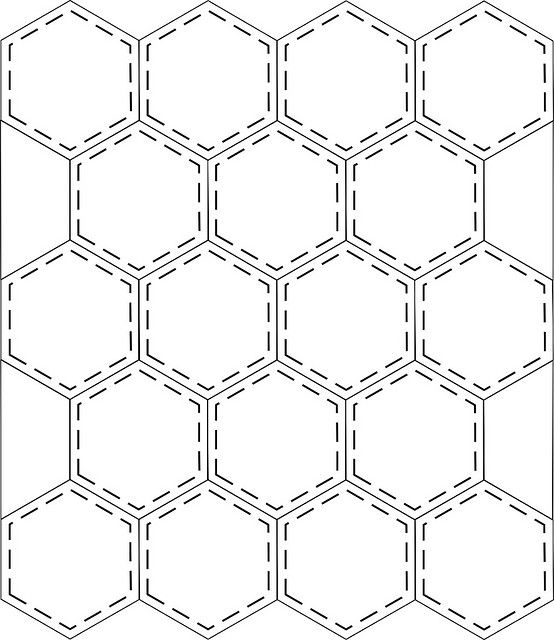 I\'d do this if I were hand quilting | Pact.hexagonos | Hexágonos ...
