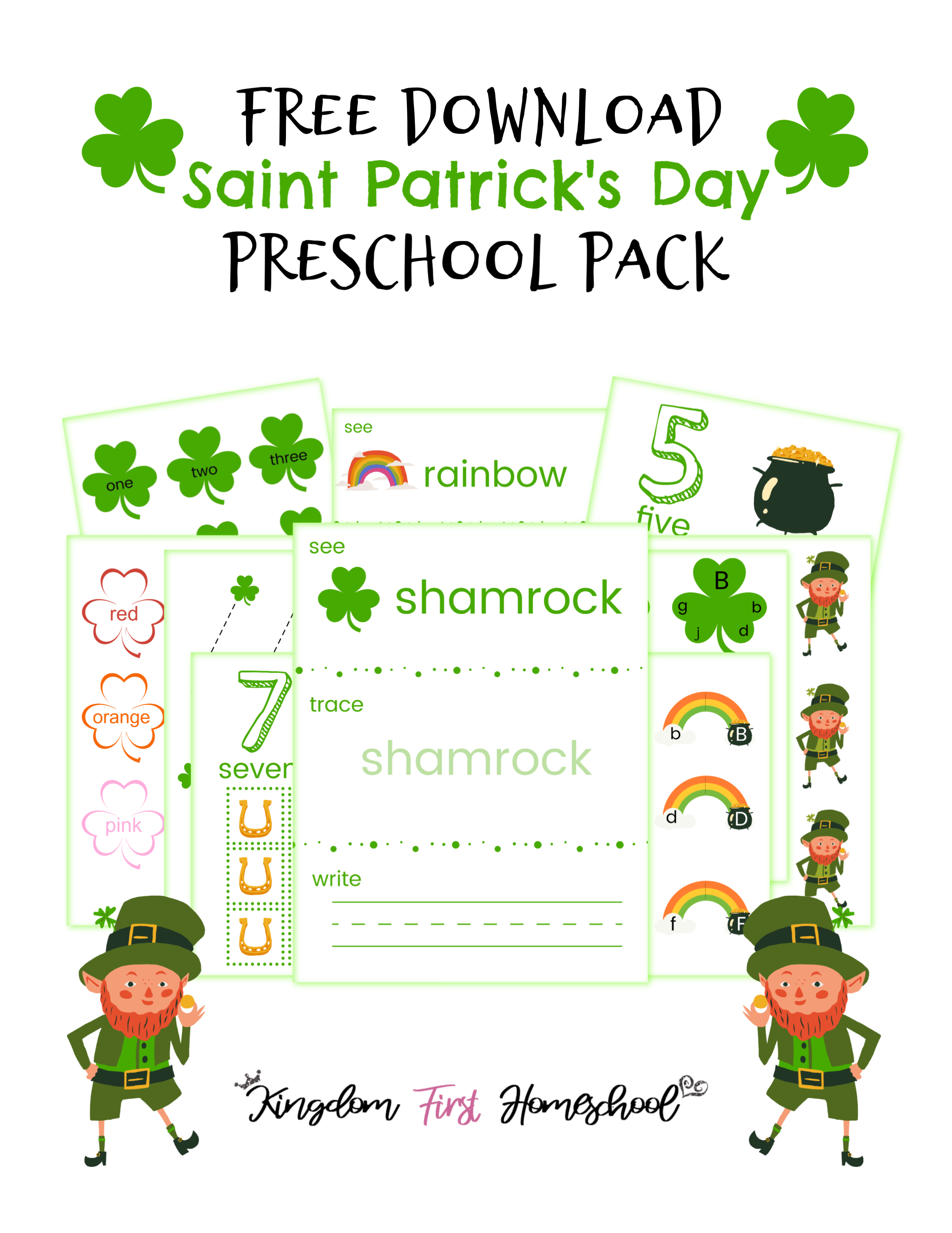 St Patrick S Day Preschool Pack With Images