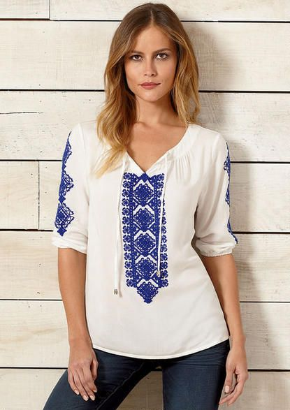 5059ee66c0bbd Milly Embroidered Peasant Blouse - View All Tops - Tops - Clothing - Alloy  Apparel