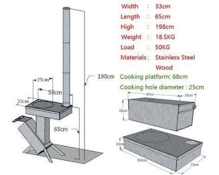 Resultado de imagen para medidas rocket stove welding for Stufa rocket