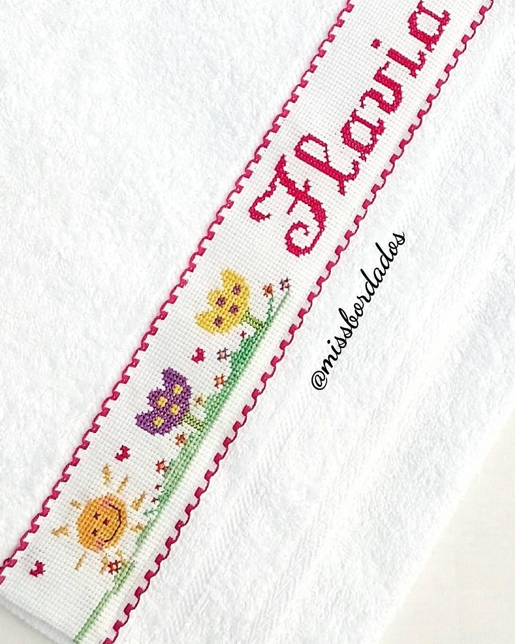 Personaliza en punto de cruz toallas fundas para almohada bolsitas ...