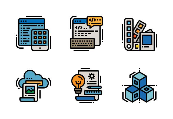 Creative And Design Icons By Nhorphai Icon Design Graphic Design Services Creative