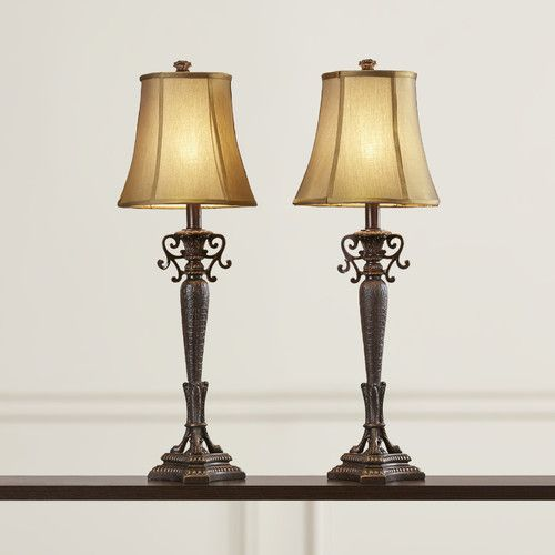 Found it at wayfair gauntlett tall buffet table lamp with bell shade