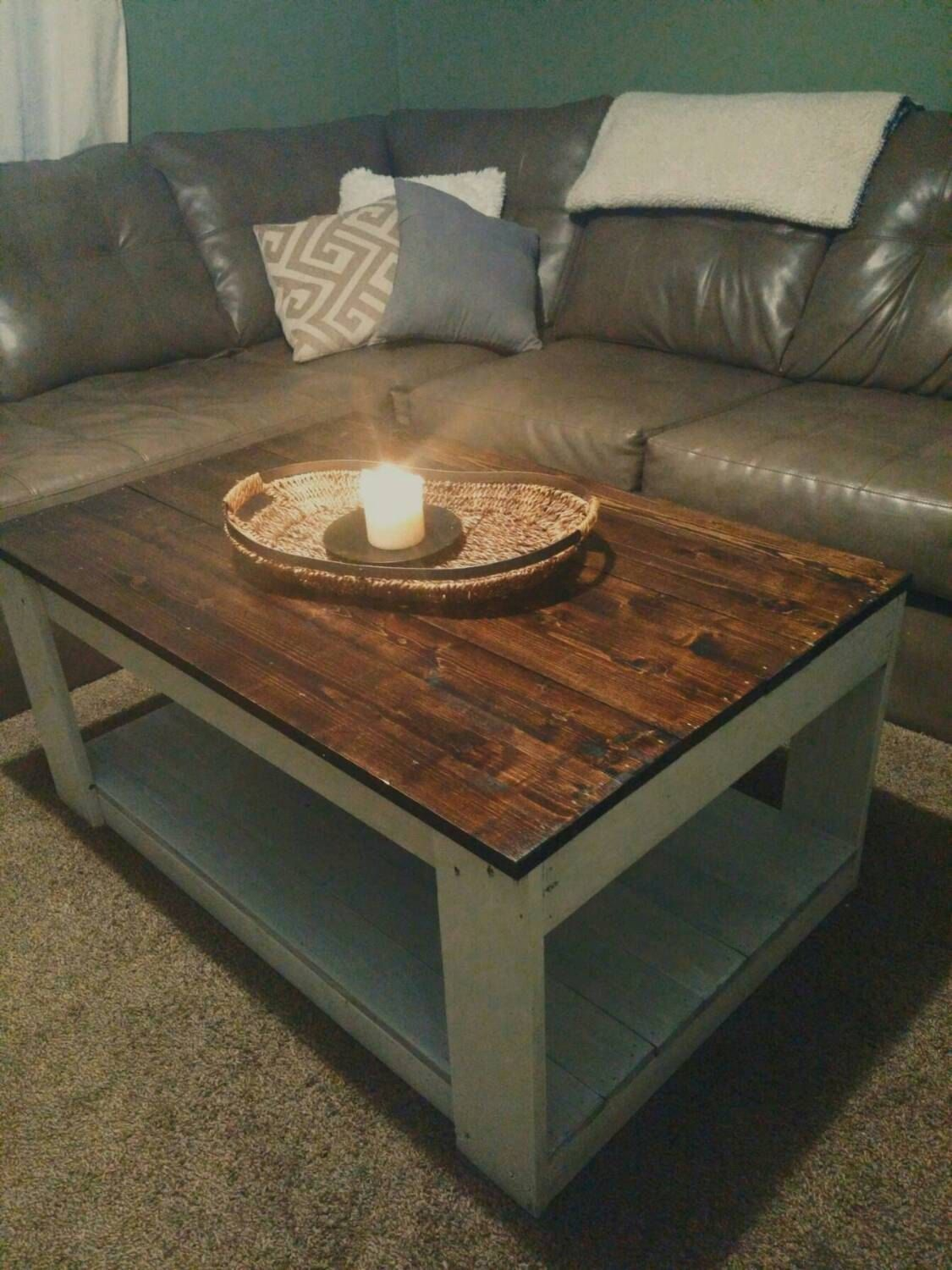 Beautiful Custom Beautiful Rustic Wood Pallet Coffee Table Christmas