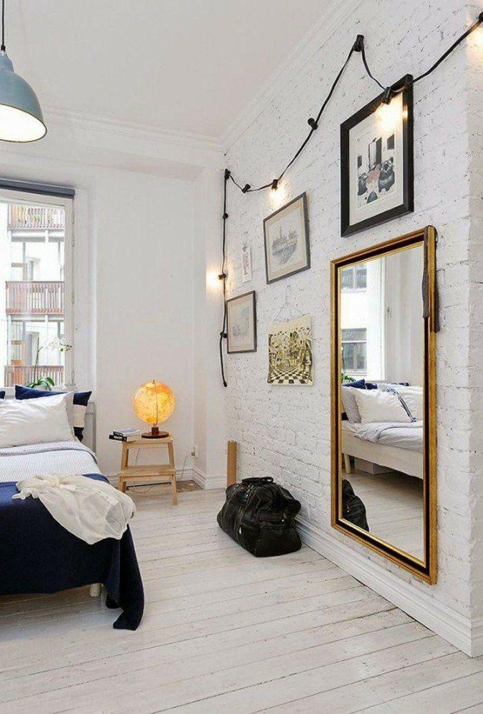 deko ideen schlafzimmer wandspiegel wanddesign hängelampe - deko wandspiegel wohnzimmer