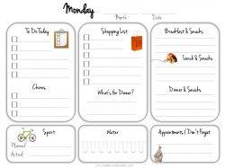 Printable Daily Calendar Monday  Me  My Big Ideas