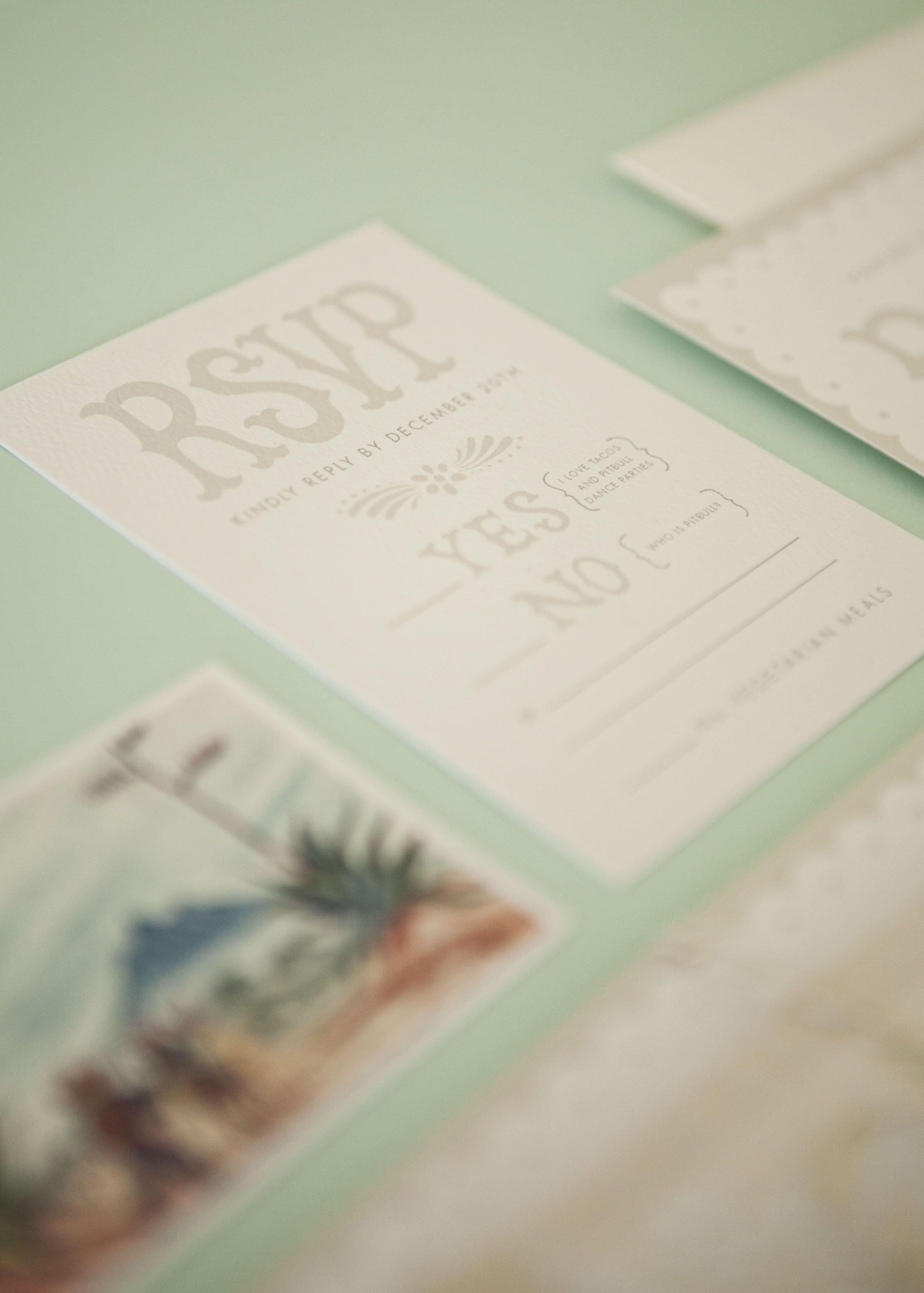 Becca & Brent's White Fiesta Wedding Invites | Orange Paper Shoppe | Photo by Kristina Lee Photography