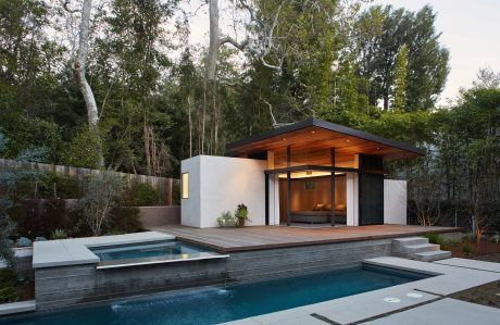 Mandeville Canyon Home by Jesse Bornstein | Hot tubs, Single family on carriage house guest house designs, hacienda guest house designs, southwestern guest house designs, ranch guest house designs,