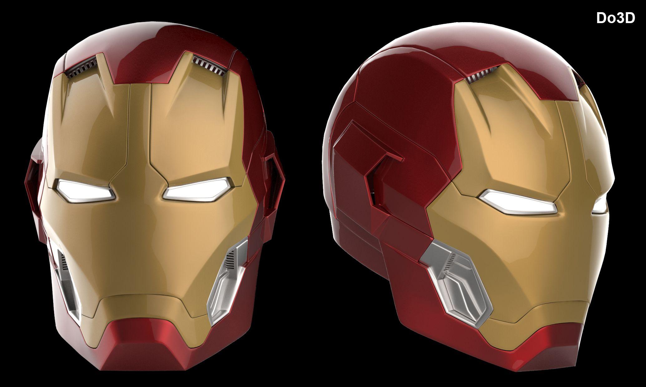 Iron Man Da Stampare: 3D Printable: Iron Man Mark XLV Helmet (Model: MK 45) From