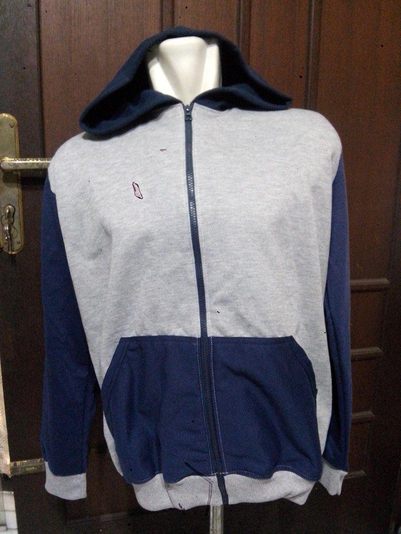 Jaket 2 Warna Bahan Fleece Cvc Dongker Kombinasi Abu Kemeja Flanel Pria Model Slimfit Modern Dark Arthur Misty Muda