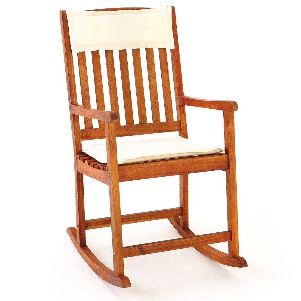 Superior Wooden Rocking Chair Traditional Rocking Armchair Tropical Exotic Acacia Wood  Nursing Chair Nursery Furniture: Amazon