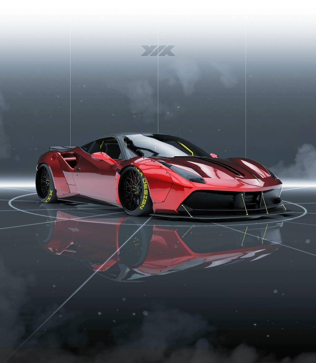 Xix3d On Instagram Liberty Walk Inspired Ferrari 488 Gtb Bmw Classic Cars Liberty Walk Super Cars