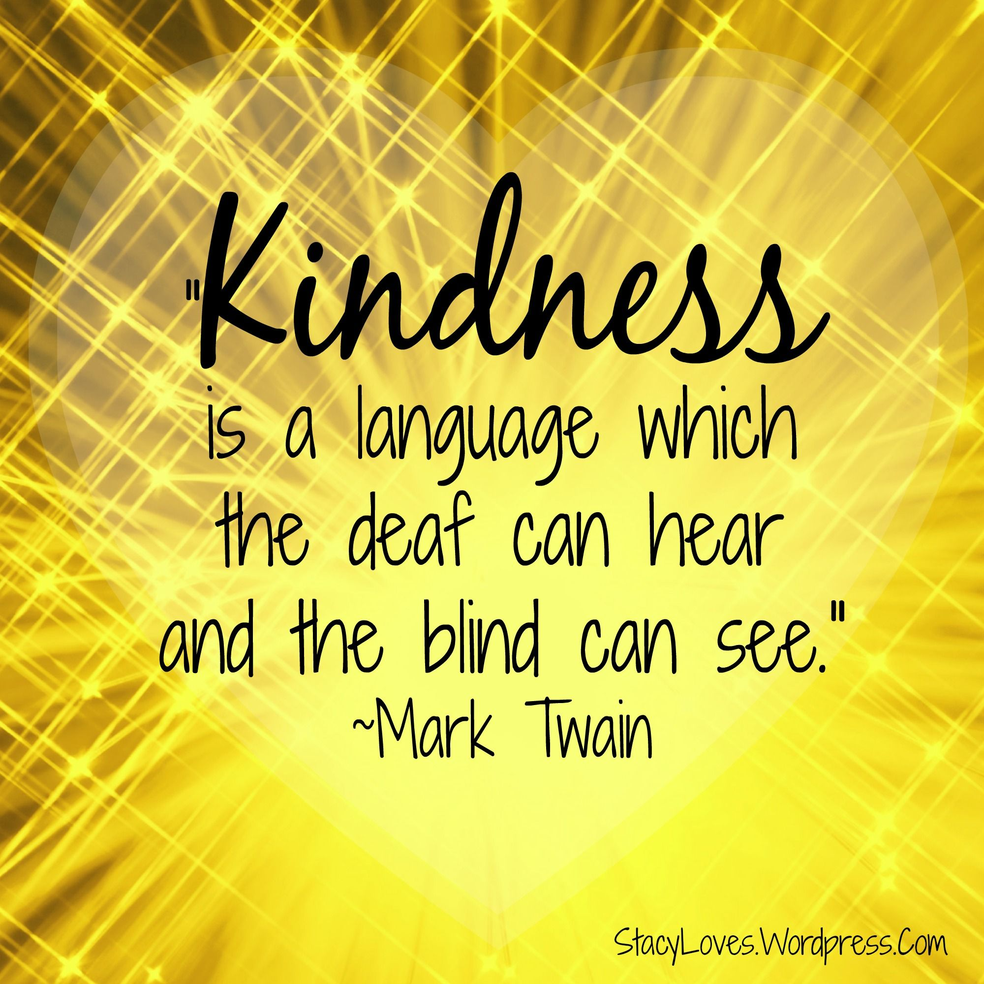 Act Of Kindness Quotes February Acts Of Kindness Challenge 2015  Mark Twain Kindness