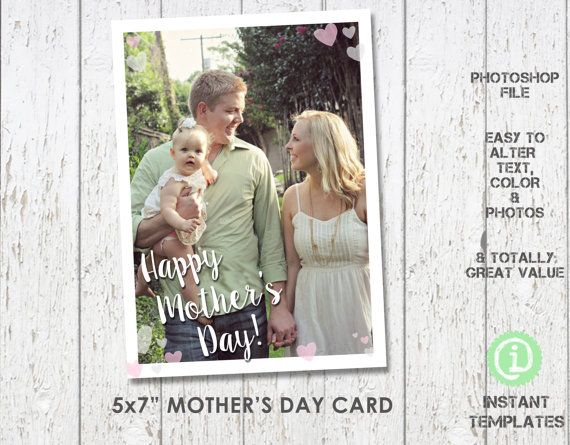 This Item Is Unavailable Etsy Mothers Day Card Template Photoshop Template Cards