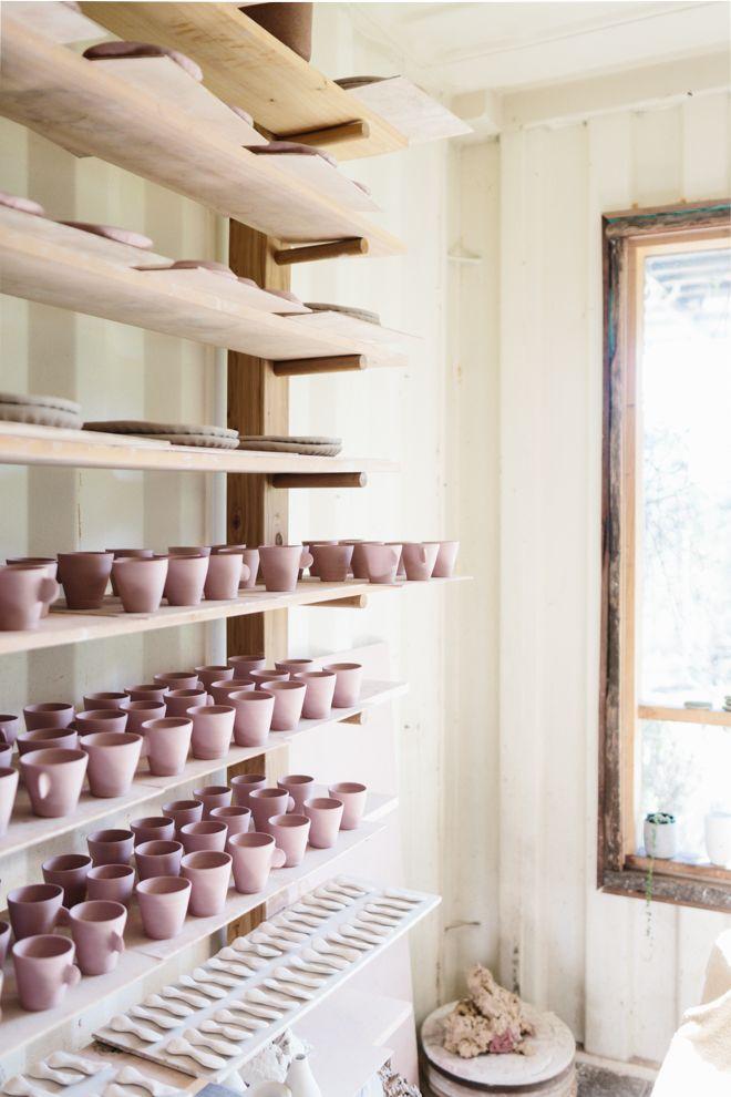 Bridget bodenham 39 s studio for outer towners photo tara for Herramientas ceramica artesanal