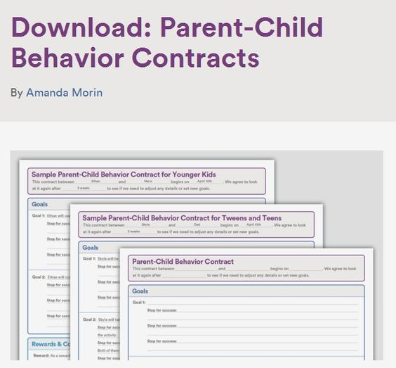 Sample Behavior Contracts for kids, tweens and teens Teenagers - contract sample