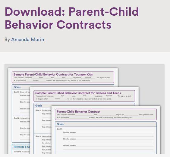 Download Parent-Child Behavior Contracts Behavior contract