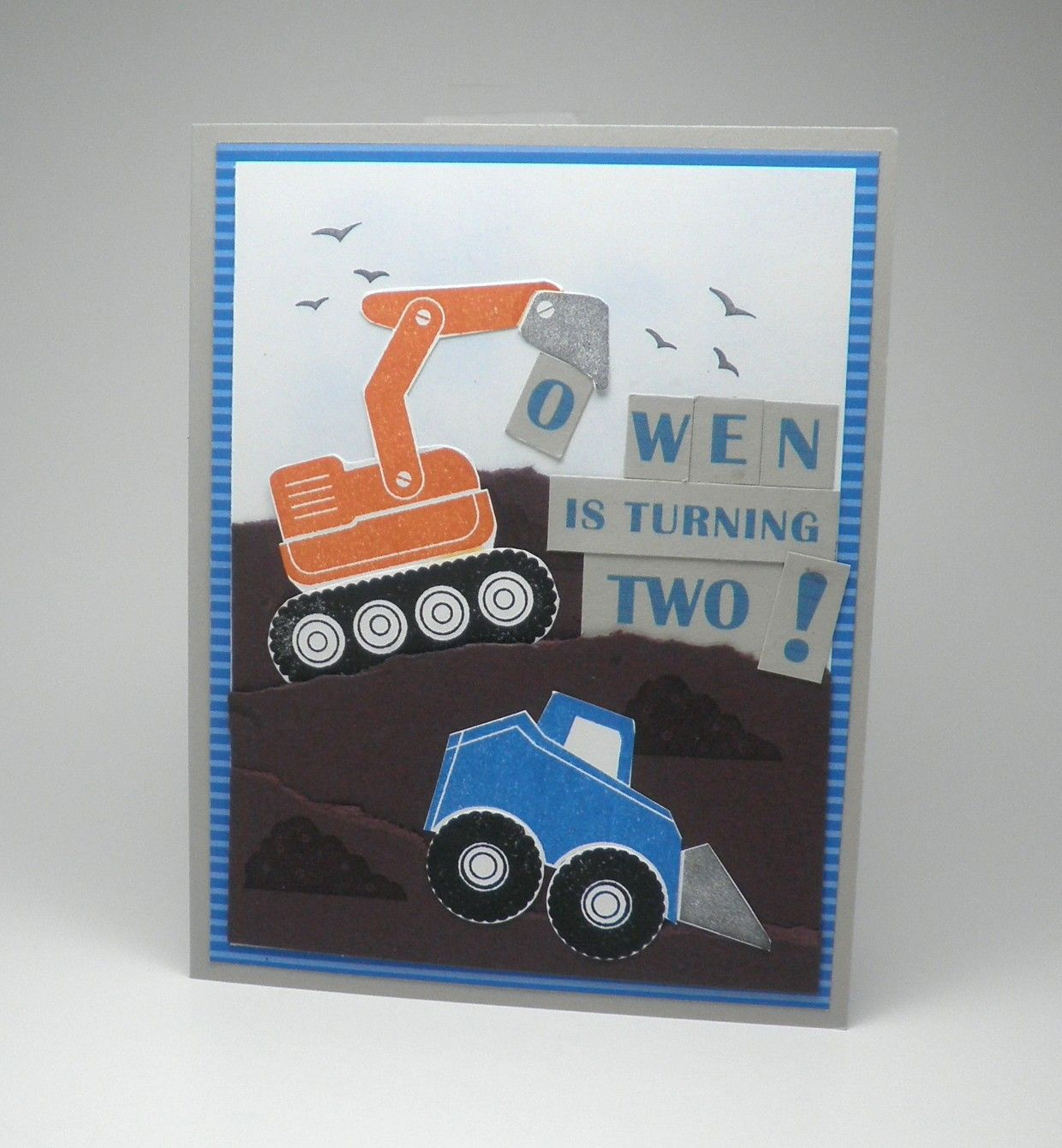 Construction Themed Birthday Party Invitation for 2 Year