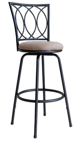 Counter Height Swivel Bar Stool Adjustable Metal High Chair Kitchen Dining  Seat #Redico #Modern