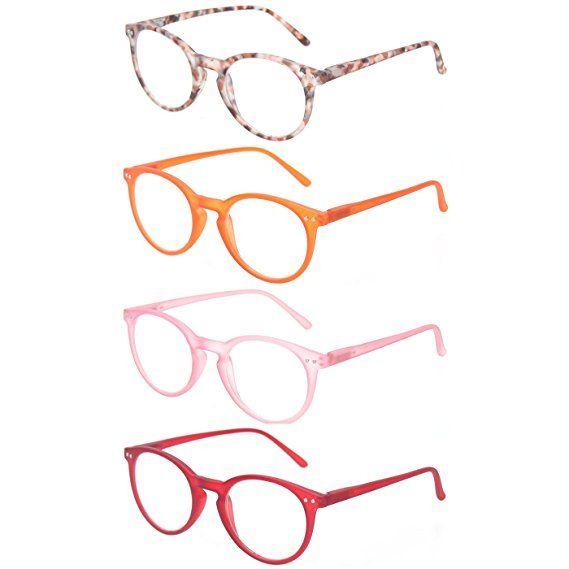 d3227140c6e Reading Glasses Set of 4 Great Value Spring Hinge Readers Men and Women  Glasses for Reading