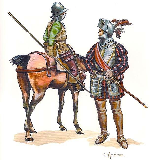 Maestre de Campo y Jinete español. Autor Emilio Arredondo.