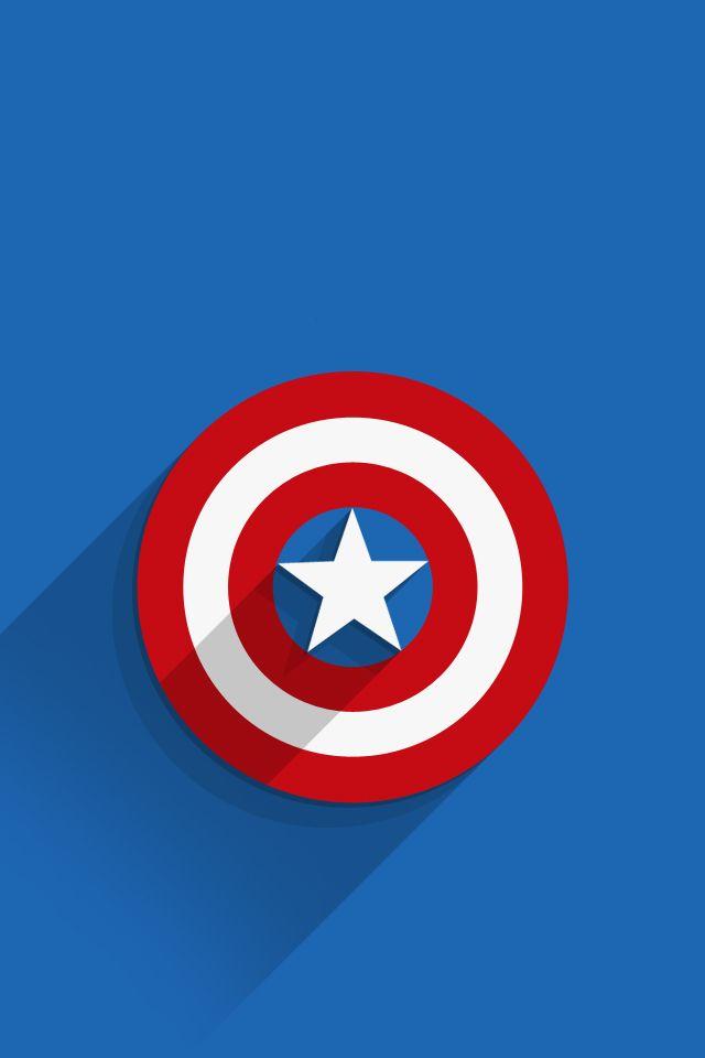 Iphone7 Wallpaper Captain America Logo Ios Mode Heroe Proyectos