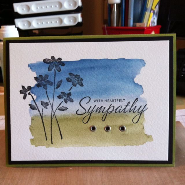 Sympathy card was needed :(.  I made this card super quick and very easy.