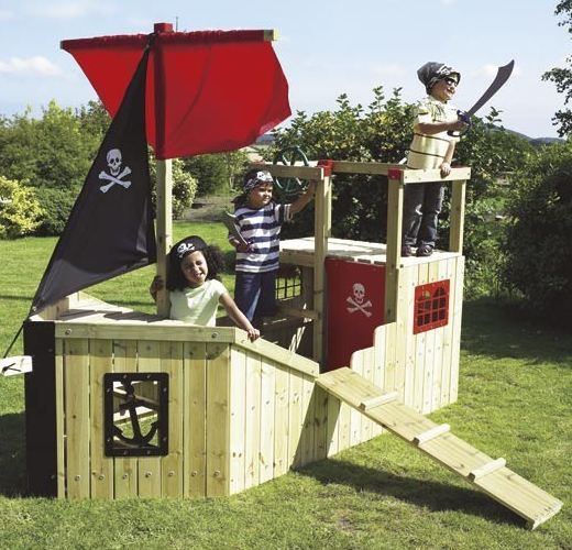 Pirate Ship Playhouse For Pirate Party .