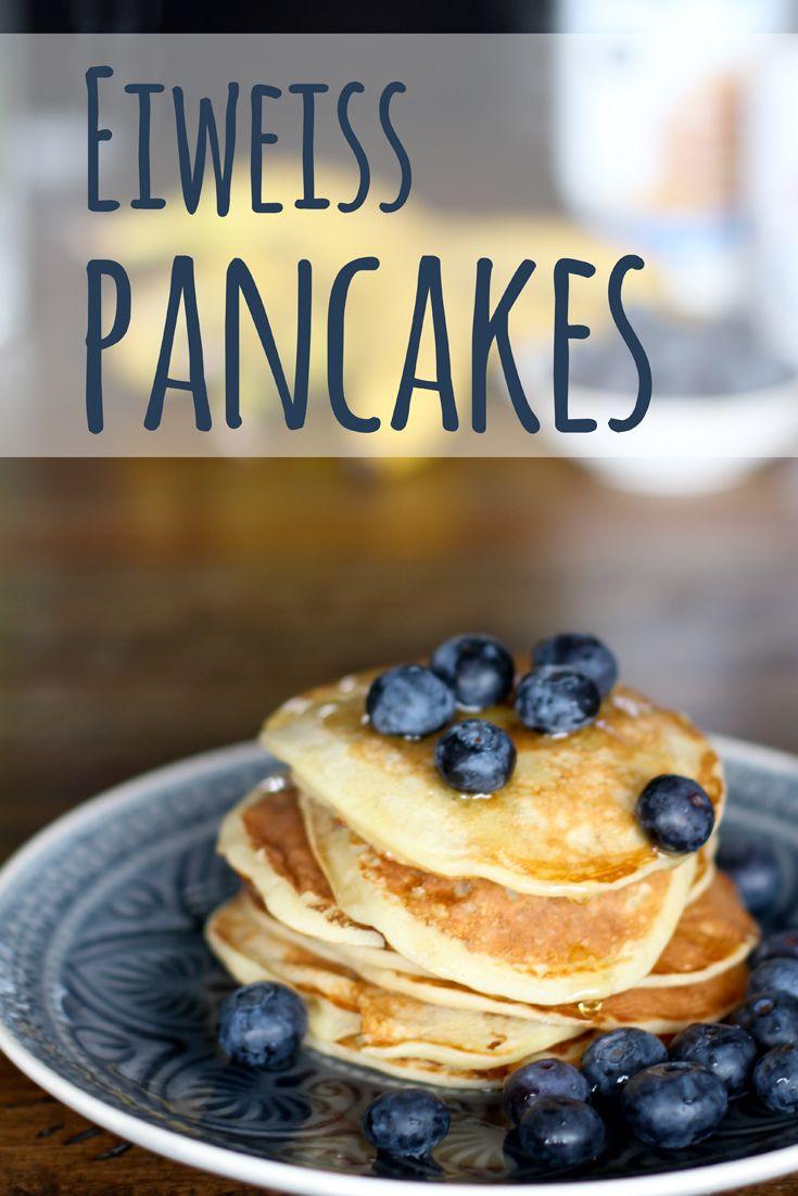 Eiweiß Pancakes Rezept - Pfannkuchen mit Eiweißpulver / Whey