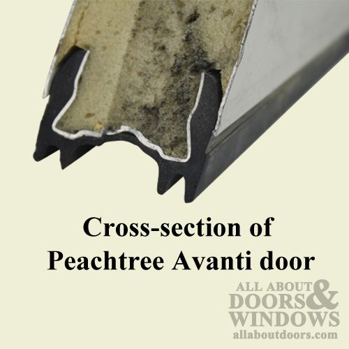how to replace the sweep on a peachtree avanti entry door all