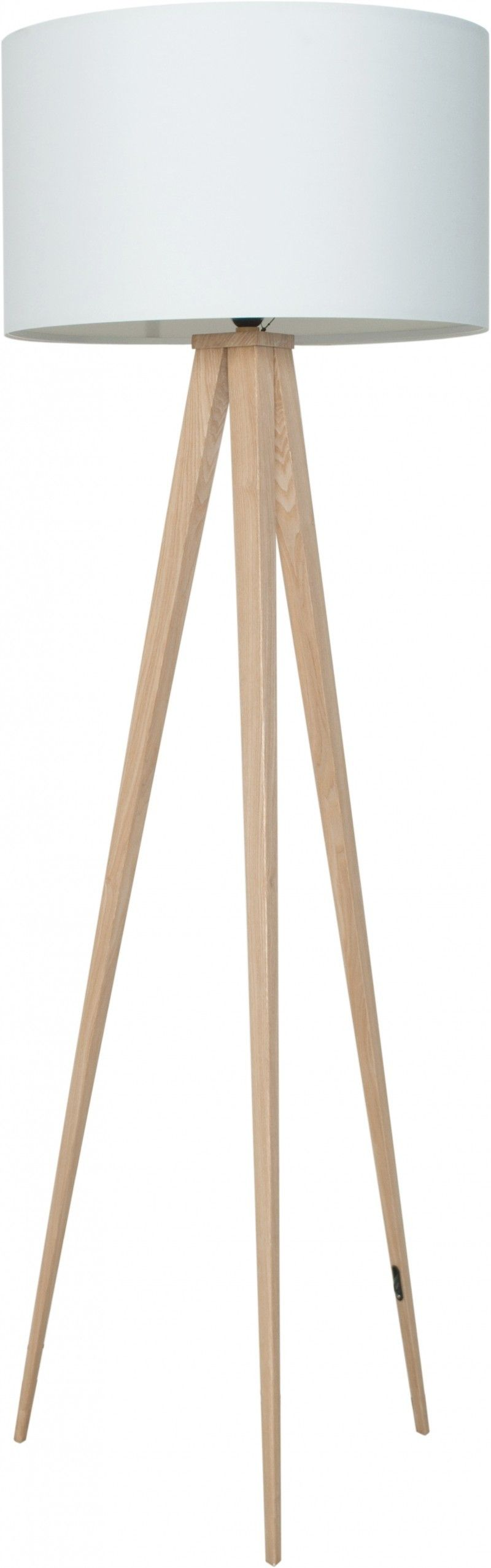 Design vloerlamp Tripod in het zwart met houten poten