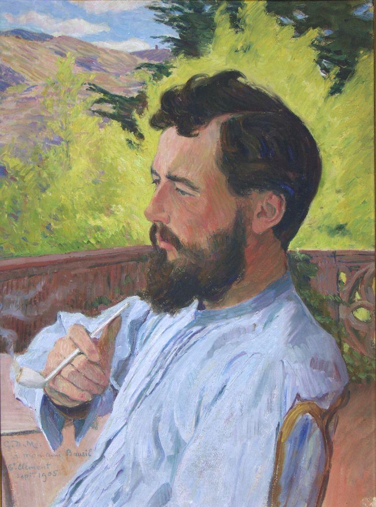 Georges Daniel de Monfreid, Portrait du peintre Louis Bausil (1905)    Painting, European art, Painter