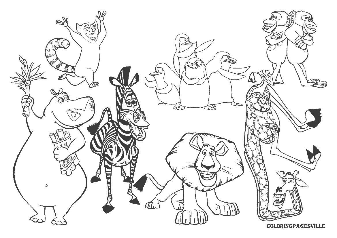 http://colorings.co/madagascar-coloring-pages/ | Colorings | Pinterest