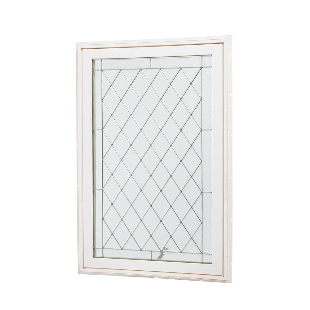 Tafco Windows 31 5 In X 47 5 In Awning Vinyl Window White Va3248bdg P Window Vinyl Custom Glass Vinyl Casement Windows