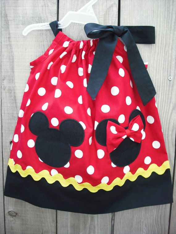 Minnie and mickey Mouse Pillowcase Dress by mycutebabystore1, $29.00 ...